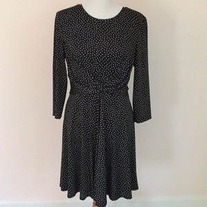 NWOT Swingy B&w polka dot dress